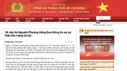 Công an TPHCM lên tiếng vụ bà Nguyễn Phương Hằng tố bị hành hung ở cơ quan điều tra
