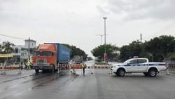 Một chốt kiểm soát y tế tại các cửa ngõ ra vào TP Đà Nẵng đã được dỡ bỏ. Ảnh: NGUYỄN CƯỜNG
