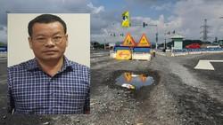 Đường cao tốc Đà Nẵng - Quảng Ngãi hư hỏng. Ảnh tư liệu