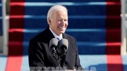 Tân Tổng thống Mỹ Joe Biden phát biểu sau khi tuyên thệ nhậm chức. Ảnh: AFP/TTXVN