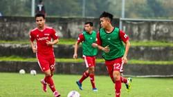 Viettel FC tích cực tập luyện nhằm chuẩn bị cho AFC Champions League 2021. Ảnh: VIETTEL FC