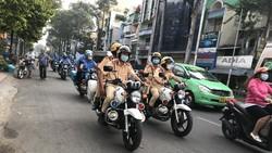 TPHCM thường xuyên ra quân các đợt kiểm tra xử lý phương tiện lưu thông trên địa bàn . Ảnh QUỐC HÙNG