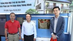 Dự án được lắp đặt trên mái tòa nhà Công ty Cổ phần Đầu tư Thương mại Quốc tế Mặt Trời Đỏ