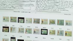 Hình ảnh thông tin CMND bị rao bán trên RaidForums