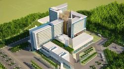 Phối cảnh công trình Bệnh viện Đa khoa khu vực Củ Chi. Ảnh: medinet