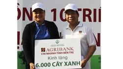 Agribank Bến Tre phát động trồng 6.000 cây điệp vàng
