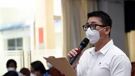 Ông Lê Quốc Thanh - Tổng giám đốc điều hành khu vực Việt Nam, Tập đoàn Phong Thái, mong muốn Đồng Nai sớm tiêm mũi 1 cho 100% lao động. Ảnh: A Lộc.
