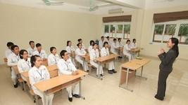 Lớp học tiếng Nhật của các điều dưỡng viên trước khi sang Nhật làm việc. (Ảnh minh họa: Anh Tuấn/TTXVN)