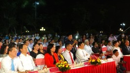 At the opening ceremony of the event