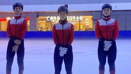 Các VĐV thuộc đội tuyển trượt băng tốc độ Hồng Kông đang tích cực chuẩn bị cho vòng loại Olympic