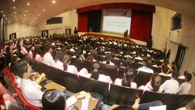 Quang cảnh Hội thảo về quản lý thể thao tại Đại học Tôn Đức Thắng.