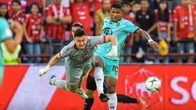 Thủ thành Đặng Văn Lâm thể hiện khá tốt ở trận ra quân cùng Muangthong United.