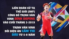 Lực sĩ Trịnh Văn Vinh bị phát hiện dính doping.