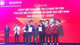 Sony tiếp tục đồng hành cùng các đội tuyển Việt Nam giai đoạn 2019-2021.