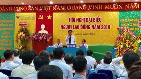 Ông Ngô Văn Đông – Tổng giám đốc Công ty Cổ phần phân bón Bình Điền phát biểu.
