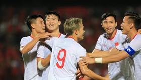 ĐT Việt Nam bất bại sau 3 vòng đấu. Ảnh: Minh Hoàng