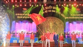 Lễ xuất quân của Đoàn Thể thao Việt Nam tham dự SEA Games 30. Ảnh: MINH HOÀNG