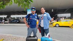 Các phóng viên Đỗ Hoàng và Dũng Phương đã có mặt tại Manila (Philippines) để truyền tải thông tin của SEA Games 30 tới độc giả của báo SGGP. Ảnh: NHẬT ANH