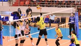 Thanh Thuý và các đồng đội bất ngờ để thua Thái Bình 0-3 ở lượt trận cuối cùng vòng bảng.