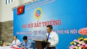 Ông Bạch Ngọc Chiến được bầu làm tân Chủ tịch Liên đoàn vovinam Hà Nội. ẢNH: MINH CHIẾN