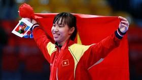 Võ sĩ Trương Thị Kim Tuyền giành HCV hạng cân dưới 49kg nữ châu Á.