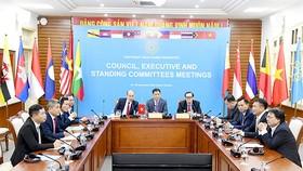 Đại diện Tổng cục TDTT và Uỷ ban Olymic Việt Nam họp trực tuyến với Liên đoàn thể thao Đông Nam Á.