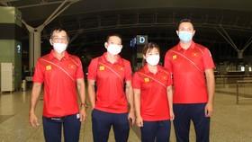 Đội tuyển cử tạ Việt Nam tự tin tại Olympic Tokyo 2020. Ảnh: Q.LƯỢNG