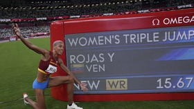 Kỷ lục gia Yulimar Rojas.