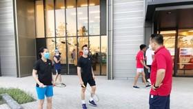 Thuỳ Linh và Tiến Minh đã trở về địa phương sau Olympic. Ảnh: T.S