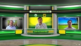Ông Doãn Văn Chiến - Phó trưởng VP thường trực Nam Bộ, Trung tâm KNQG (phải), Ông Phan Văn Tâm - GĐ. Marketing Cty CP Phân bón Bình Điền (trái).