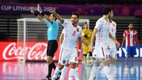 Niềm vui của các cầu thủ Tây Ban Nha. Ảnh: GETTY
