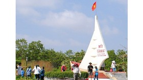 Biểu tượng con tàu tại Mũi Cà Mau