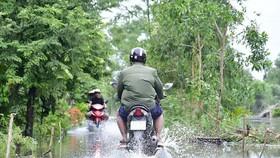 Cà Mau: Hai huyện tiếp tục cho học sinh nghỉ học vì đường ngập