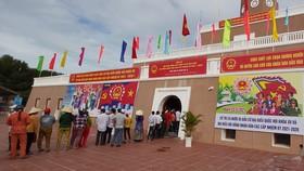 Bầu cử tại cột cờ Hà Nội ở Mũi Cà Mau - điểm cực Nam Tổ quốc