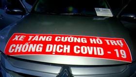 Các đối tượng lợi dụng xe có đăng ký luồng xanh hỗ trợ phòng, chống dịch để bán ma túy. Ảnh: TRỌNG NGUYỄN