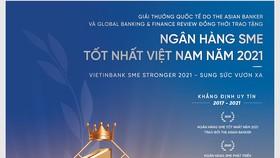 VietinBank – đạt giải Ngân hàng SME tốt nhất Việt Nam năm 2021