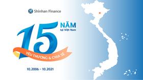 Shinhan Finance chính thức đánh dấu cột mốc tròn 15 năm phục vụ nhu cầu tài chính cho người tiêu dùng Việt Nam
