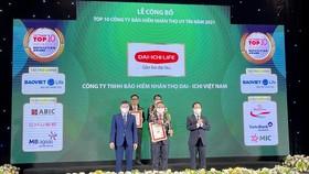 Dai-ichi life Việt Nam đạt danh hiệu top 3 công ty bảo hiểm nhân thọ uy tín năm 2021