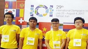 Các em trong đội tuyển thi Olympic tin học quốc tế 2017