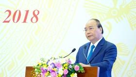 Thủ tướng Nguyễn Xuân Phúc phát biểu tại Hội nghị Chính phủ với các địa phương.  Ảnh: VGP