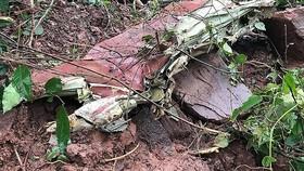 Hiện trường vụ máy bay Su-22 rơi khiến 2 phi công thiệt mạng. Nguồn: VOV. VN
