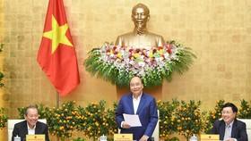 Thủ tướng chủ trì họp Chính phủ. Ảnh: VGP