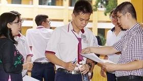 Thí sinh dự kỳ thi THPT quốc gia 2018. Ảnh: HOÀNG HÙNG