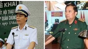 Phó Tổng Tham mưu trưởng Quân đội nhân dân Việt Nam Nguyễn Trọng Bình và Phùng Sĩ Tấn. Ảnh: VGP