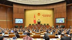 Quốc hội họp sáng 21-10. Ảnh: VIẾT CHUNG