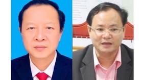 Ông Phạm Ngọc Thưởng (trái) và ông Lê Minh Ngân (phải)
