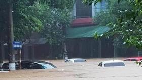 Cảnh ngập lụt ở Hà Giang. Ảnh: QUANG PHÚC