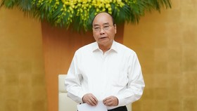 Thủ tướng Nguyễn Xuân Phúc kết luận tại phiên họp. Ảnh: QUANG PHÚC