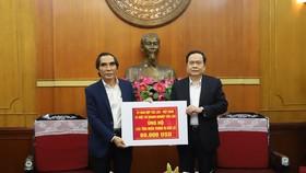 Ủy ban hợp tác Lào - Việt ủng hộ đồng bào miền Trung