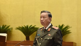 Bộ trưởng Bộ Công an Tô Lâm, ảnh QUANG PHÚC